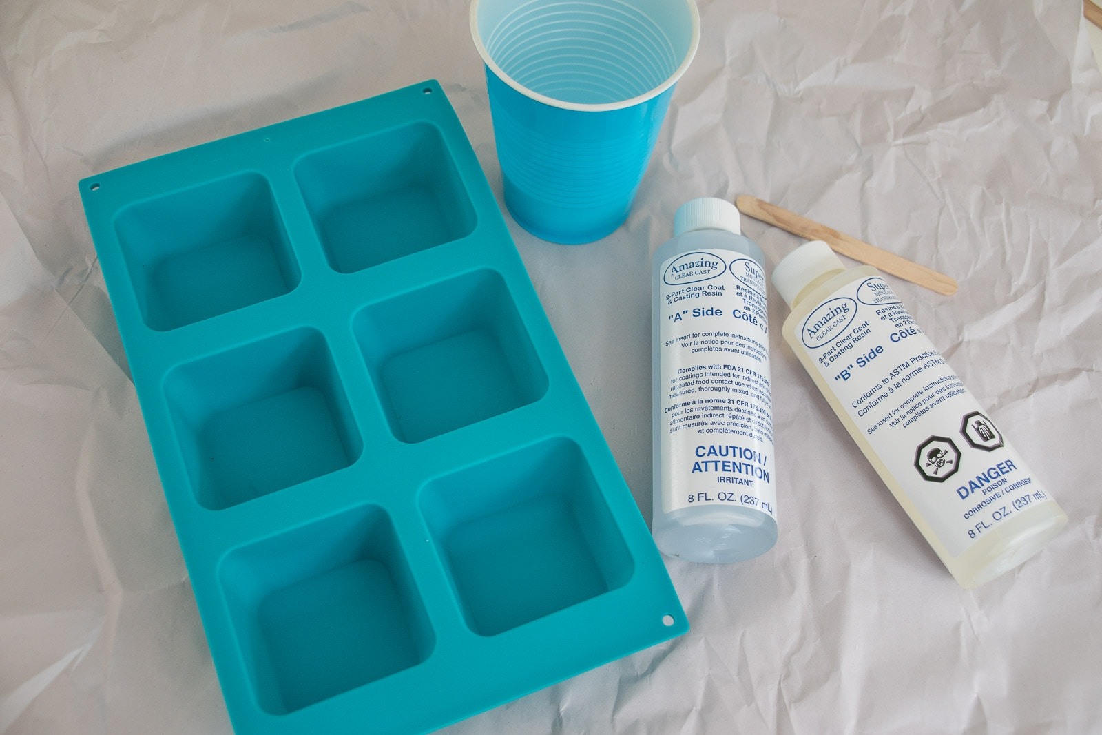 prepare your work surface for resin