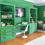 cabinets turned built in bookshelves