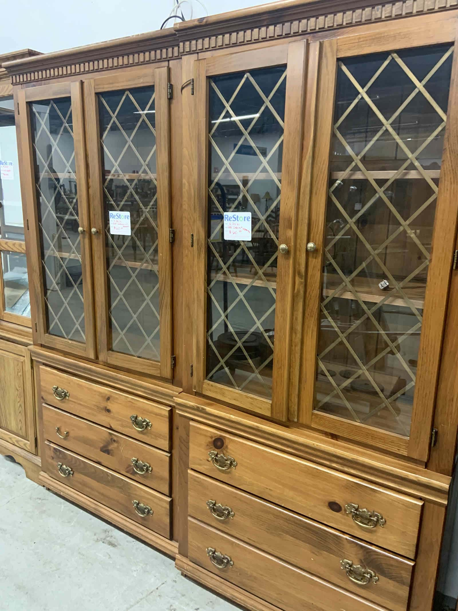 cabinets from the restore