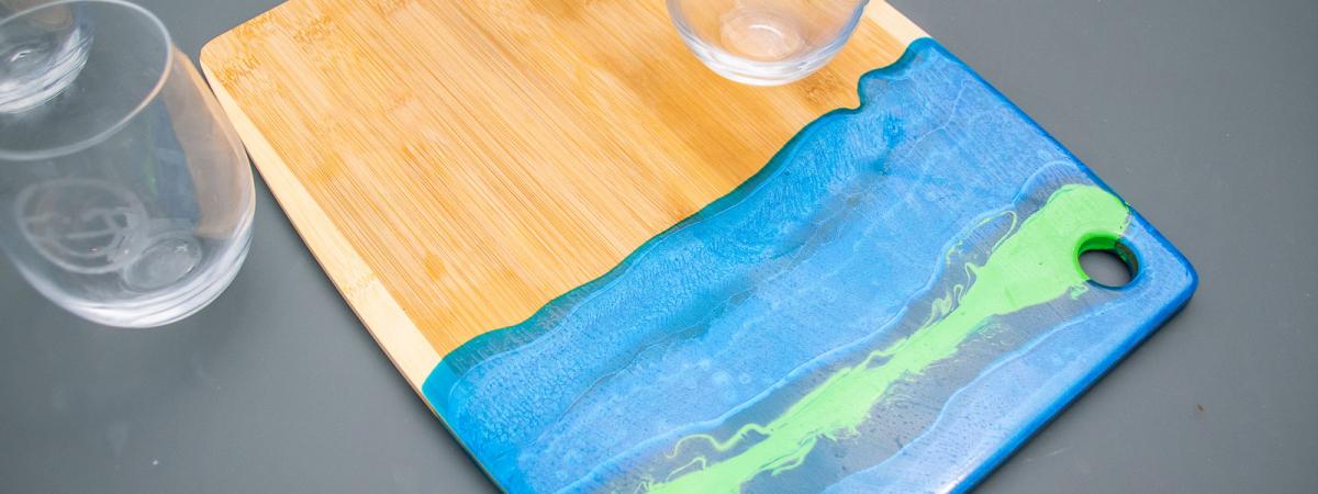 Colorful Epoxy Resin Cutting Board