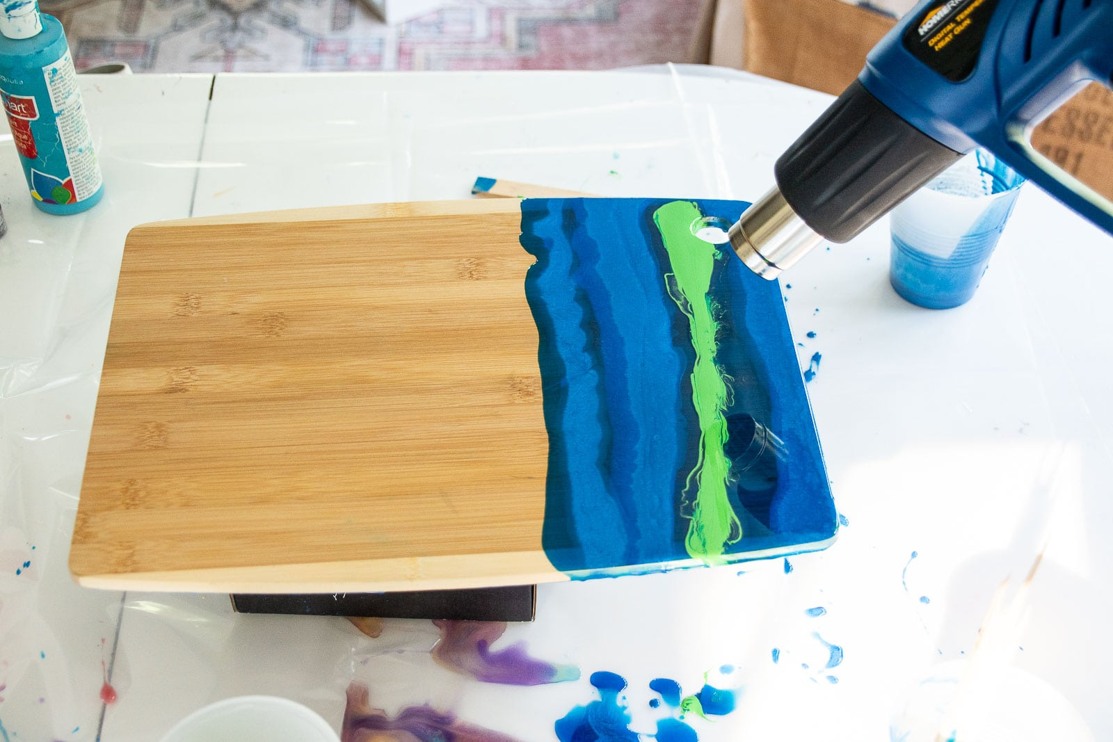 cutting board with epoxy pour