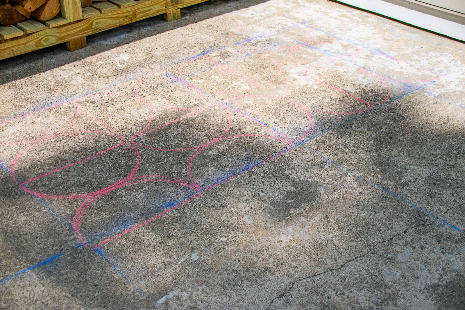 chalk lines for painted patio