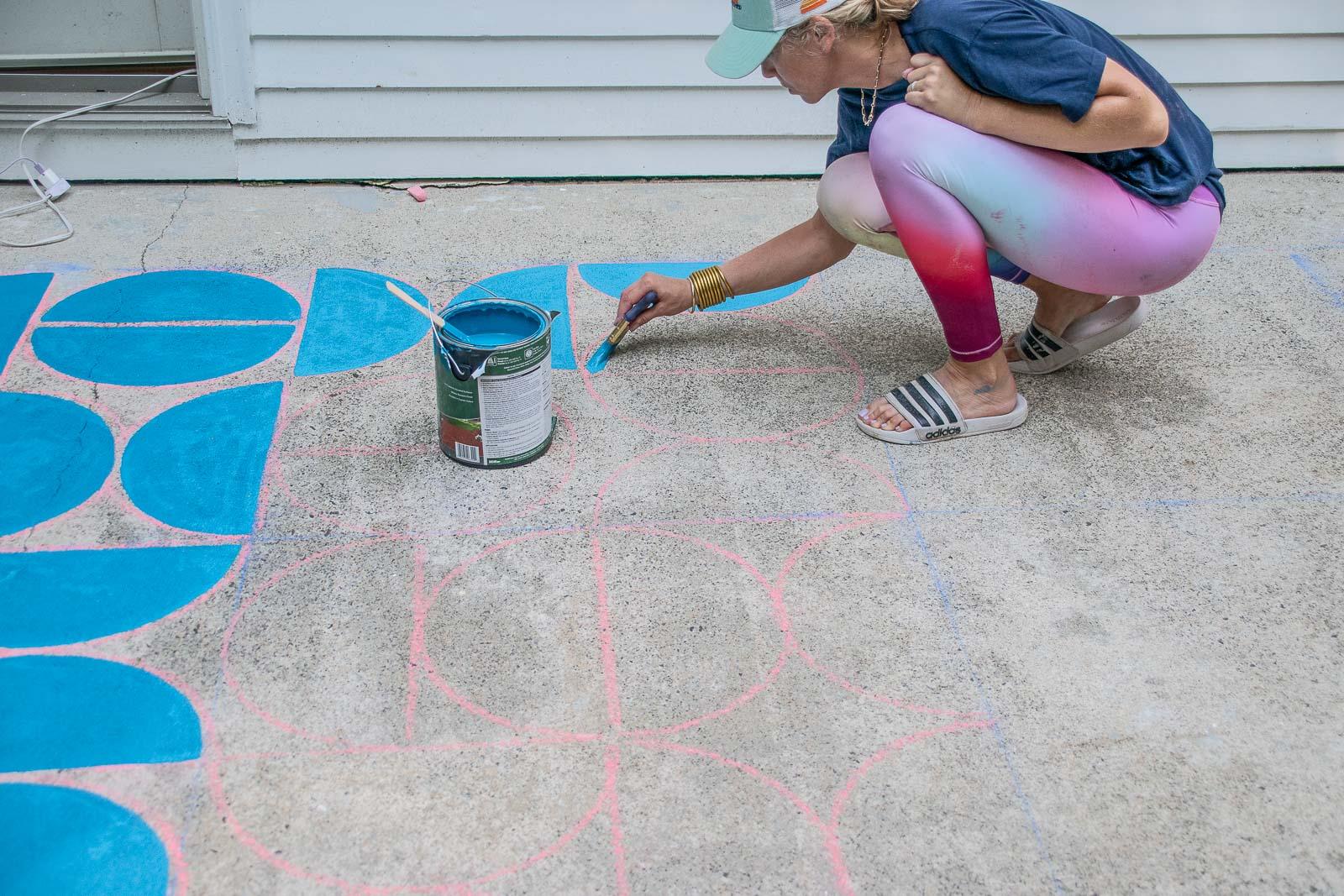 paint the concrete patio